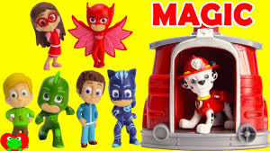 save the pj masks save the day with paw patrol marshall magical pup house