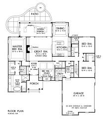 hillside floor plans plan of the week ranch and hillside walkout craftsman ranch