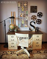 pottery barn inspired desk using goodwill filing cabinets hometalk