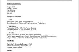 Actor Resume Examples by Acting Resume Beginner Within Acting Resume Sample Beginner Resume
