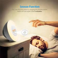 alarm clock that wakes you up during light sleep touch sensing alarm clock wake up light sunrise sunset simulation