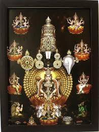 lord venkateswara pics lord venkateswara with ashtalakshmi garudar and hanuman frame