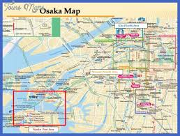 map with attractions osaka map tourist attractions toursmaps