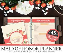 of honor planner a5 ultimate of honor wedding planner organizer kit instant