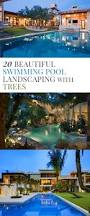 20 beautiful swimming pool landscaping with trees home design lover