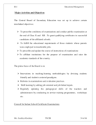 Sample Teacher Resume Indian Schools by Iii 1 Educational Management