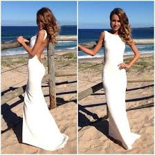chagne wedding dress backless white dress wedding dress to change into after your