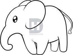 draw elephant kids step step darkonator