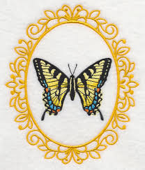 butterfly cameo tiger swallowtail design m6929 from
