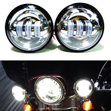 Led Lights For Motorcycle 2018 4 1 2 Chrome Led Auxiliary Spot Fog Passing Light Lamp Bulb