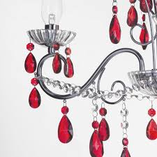 Bathroom Lighting Centre by Vara 3 Light Bathroom Red Crystals Chandelier Chrome