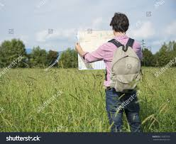 Map A Trip Man Tourist On Trip Reading Map Stock Photo 215597212 Shutterstock
