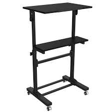 Lectern Desk Height Adjustable Multi Purpose Mobile Podium Lectern And