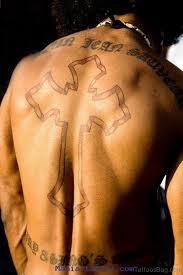 97 stunning cross tattoos for back