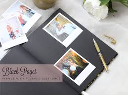 guest book with black pages deco black gold wedding guest book paperboundlove au