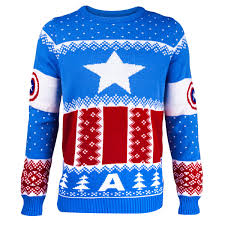 christmas jumper captain america knitted christmas jumper geekcore co uk