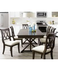 baker street dining furniture 7 pc set dining table u0026 6 side