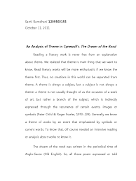 themes of beowulf poem an analysis of theme in cynewulf s the dream of the rood anglo