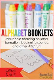 alphabet booklets a to e printable set freebie