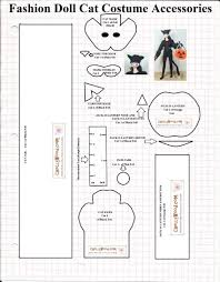 free printable sewing pattern for dolls u0027 halloween cat mask