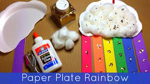 Paper Plate Craft Ideas For Kids Paper Plate Rainbow Preschool And Kindergarten Craft Project Youtube