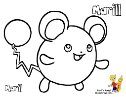 pokemon coloring of marill at coloringpagesbookforkidsboys with