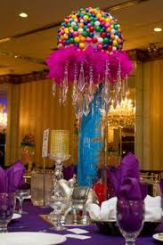Candy Themed Centerpieces by Candy Themed Center Pieces Ribbon Table Cloth Fun Party Themes