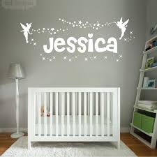 Disney Bedroom Wall Stickers Wall Designer Personalised Name Girls Wall Art Sticker Fairies