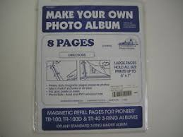 photo album pages for 3 ring binder pioneer refill pages srf 1200 for tr 100 magnetic album or any 3