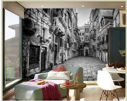 popular wallpaper 3d black white buy cheap wallpaper 3d black high quality customize size modern white and black building 3d wall murals wallpaper custom curtains