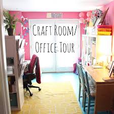 Pink Craft Room - lola tangled craft room office tour