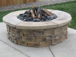 How To Build A Gas Firepit Patio Ideas Gas Pit Kits With Travertine Tiles Ideas And