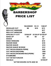 prices exodusbarbershopexodusbarbershop