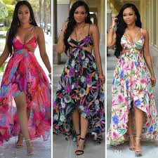 summer dresses chiffon summer flora printed slip hippie dress flowy backless