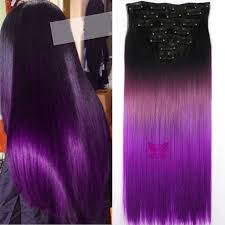 purple hair extensions fashion 24 clip in hair extensions black to purple ombre