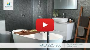 palazzo bathroom vanity wall mounted stone top 900 fontaineind