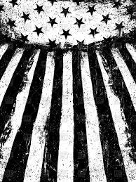 White American Flag Monochrome Negative Photocopy American Flag Royalty Free Vector