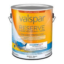 shop valspar reserve season flex semi gloss latex exterior paint