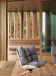 Interior Glass Walls For Homes Geometric Beach House With Zinc Exterior Wood Interior