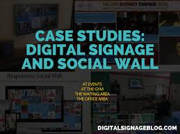 case studies digital signage and social wall digital signage blog case studies digital signage and social wall