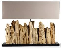Rectangular Table Lamp Vertico Riverine Root Modern Rustic Burlap Shade Table Lamp Long