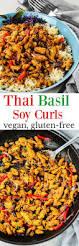 thanksgiving soy curls with vegan thai basil soy curls veganfood glutenfreerecipe soycurls