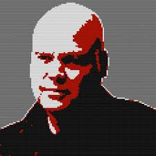 Wilson Fisk by I Have Made A Wilson Fisk Portrait With Legos Using Photoshop