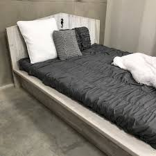 Reclaimed Wood Platform Bed Bedroom Rustic And Reclaimed Furniture Wooden King Size Bed