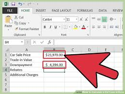 Used Car Price Estimation by How To Calculate A Car Loan In Excel 10 Steps With Pictures