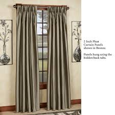 Pottery Barn Drapery Panels Marquee Flared Faux Silk Pinch Pleat Curtain Panels