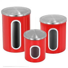 atecking 3 piece kitchen canister set stainless steel airtight