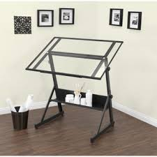 Drafting Table Designs Studio Designs Solano Adjustable Glass Top Drafting Table Free