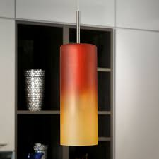 Red Pendant Light by Eglo 83202 Troy 1 Single Red Orange Glass Pendant Light Red