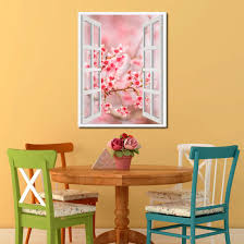 Cherry Home Decor Cherry Blossom Beautiful Flower Picture Window Wall Art Home Decor